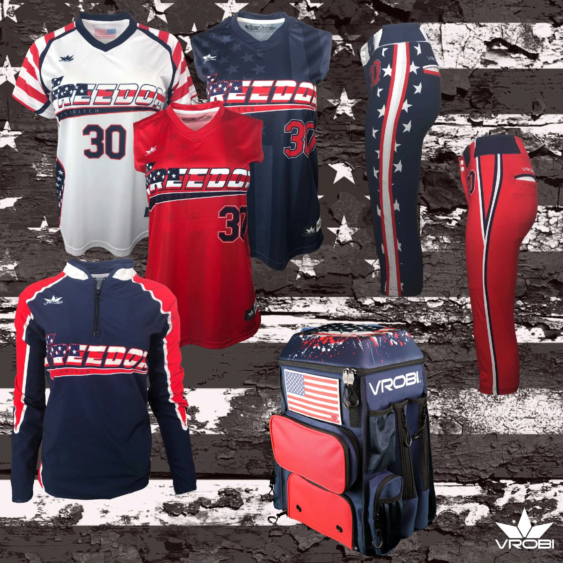 Platinum Package for Fastpitch Softball showing custom uniforms and Bat Pack