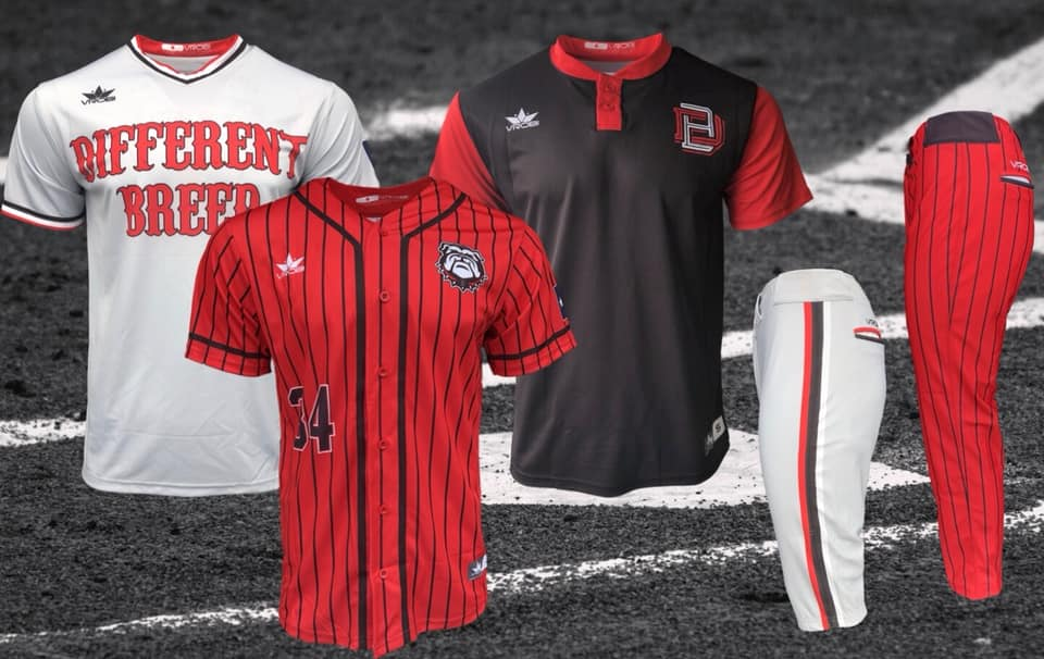 Custom Baseball Jersey with Pinstripes and Knicker Pants