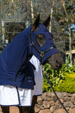 Deluxe Cotton Stretch Zip Hoods - Navy
