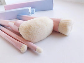Gradient Color Pink Powder Makeup Brushes | teeweebeautyshop.com