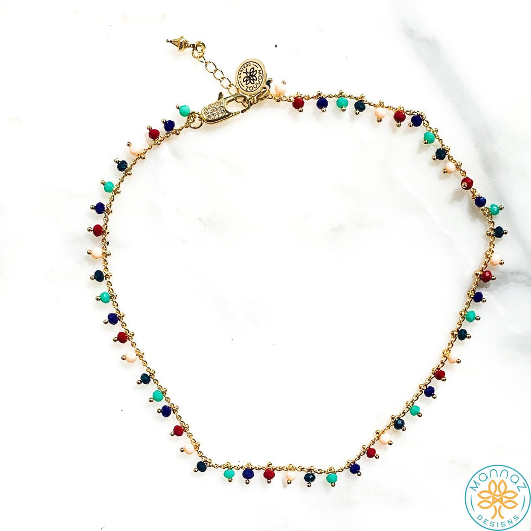 Claire Color Crystal  Choker