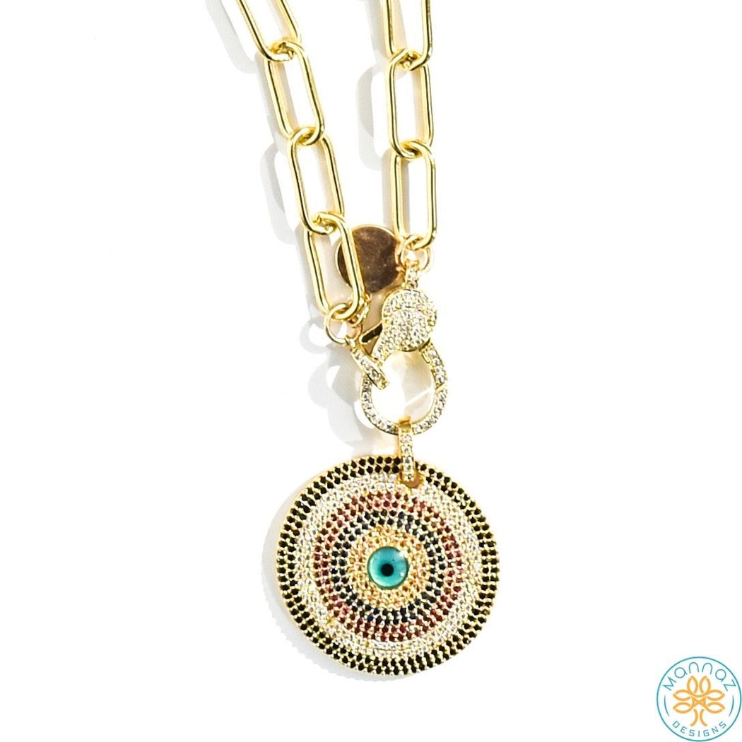 evil eye, Spring20 Default Title Chain Necklace Mannaz Designs Evil eye in gold chain necklace