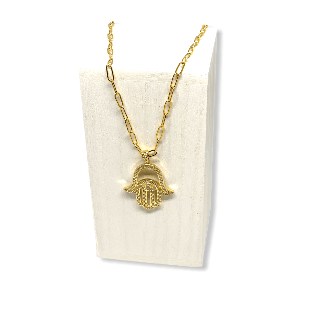 Evil Eye, Fall 20, Hamsa Default Title Chain Necklace Mannaz Designs Hamsa of Luck Gold Necklace