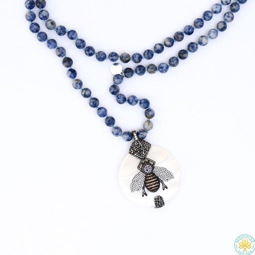 bee, Sodalite, Spring20 Default Title Necklace Mannaz Designs Sodalite Bee Necklace