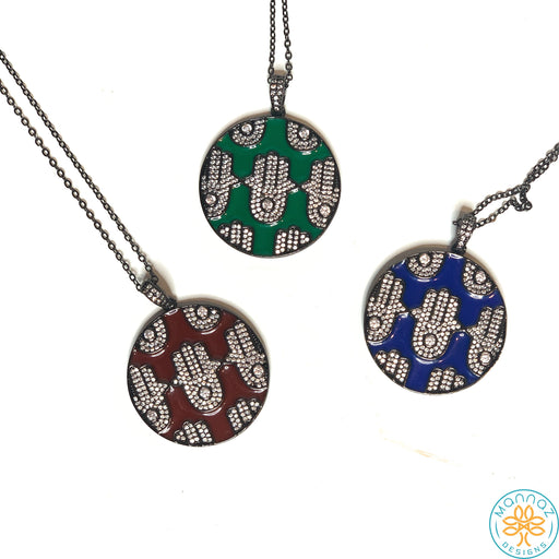 Hamsa of Luck in Enamel