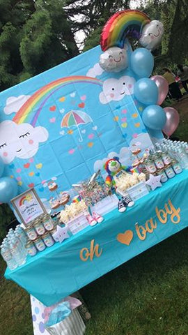 Rainbow Baby Gender Reveal Party | Gender Reveal Confetti Cannons