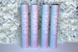 "Pink or Blue Gender Reveal Confetti Cannon 12"" (4 Pack)  Belle & Beau Confetti Co.- GenderRevealCannons.com"