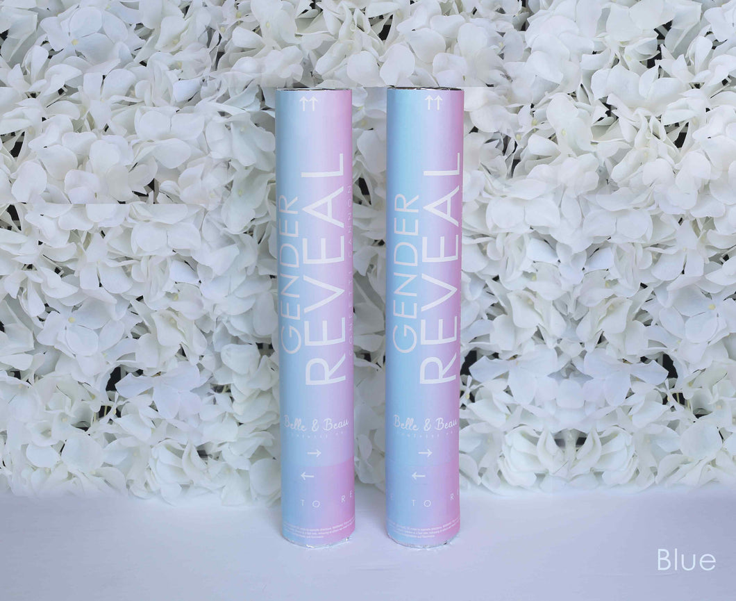 Blue Boy Gender Reveal Confetti Cannon - 2 pack - Belle & Beau Confetti Co - GenderRevealCannons.com