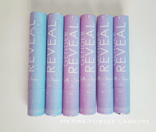 Six Pink or Blue Gender Reveal Powder Cannons, Boy or Girl!