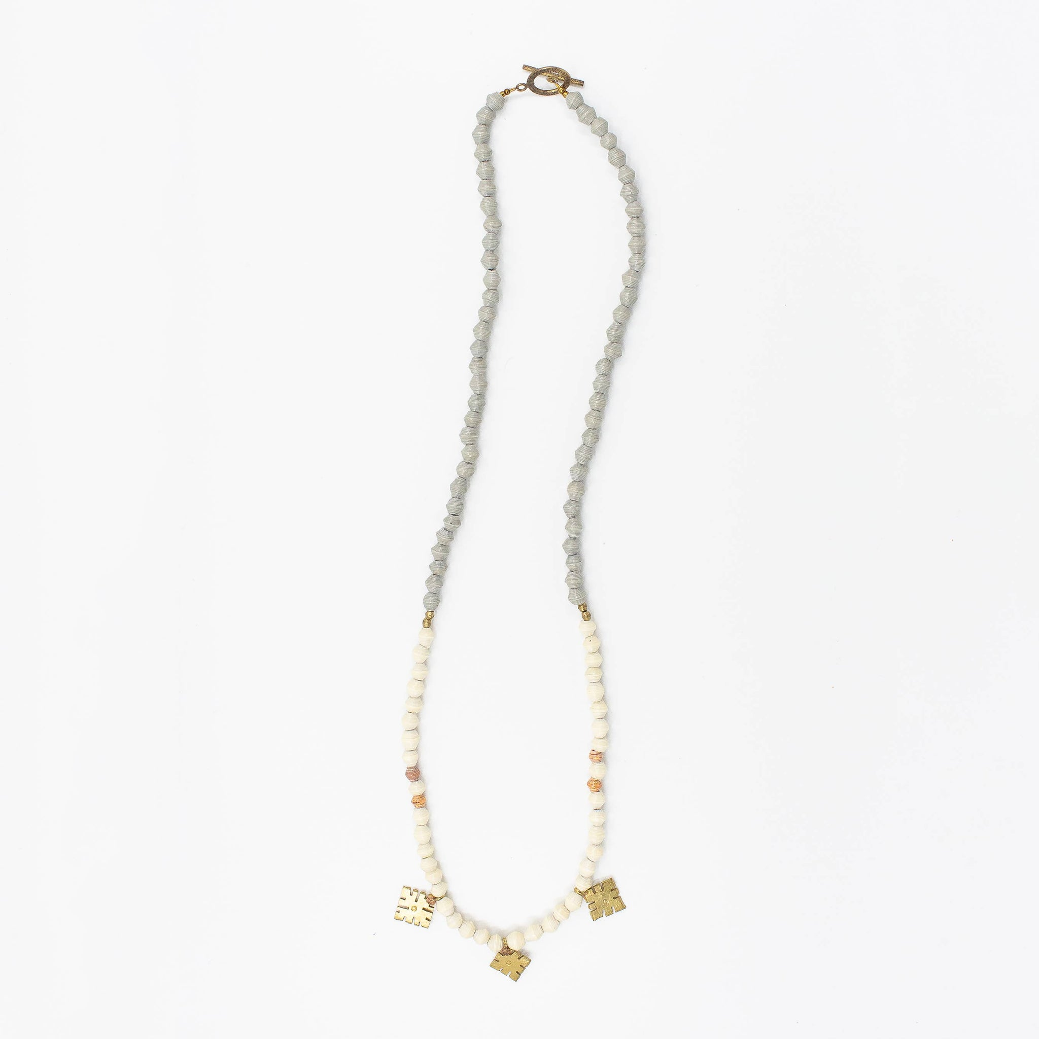 The Wanderlust Necklace - Grey/Light Sand