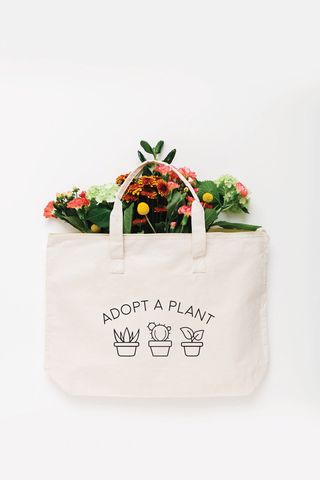 Adopt a Plant Tote Bag - Large