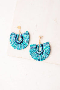 Mindy Multicolored; Tassel Earrings
