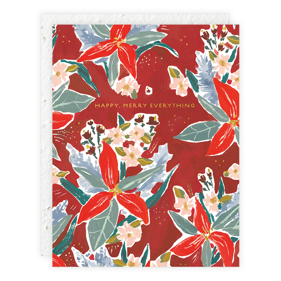 Seedlings - Red Poinsettia Seedlings Card