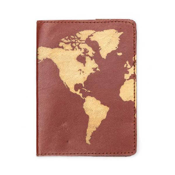 Globetrotter Passport Cover - Brown
