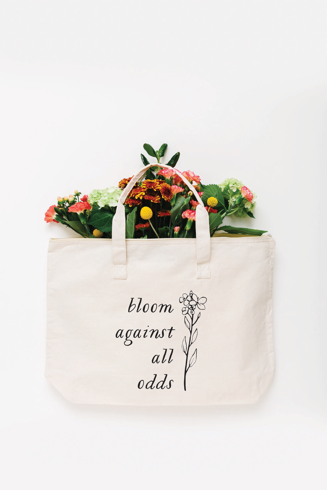 Bloom Against All Odds Tote Bag - Large