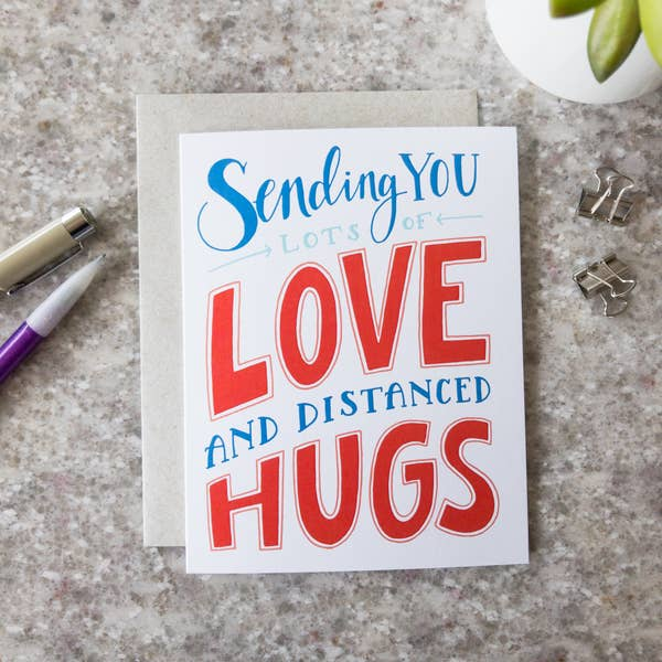 Love and Hugs - Greeting Card
