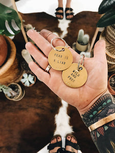 Tumble - Round Brass Key Ring