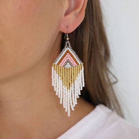 Rosavie Beaded Earrings