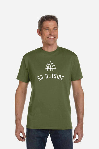 Go Outside Adult Tee