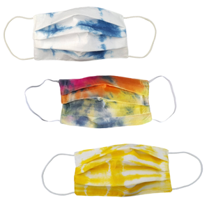 Tie Dye Pleated Face Mask Adult - Reusable w/ Filter Pocket