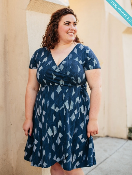 Plus Size! AINSLIE WRAP - DRESS TWILIGHT