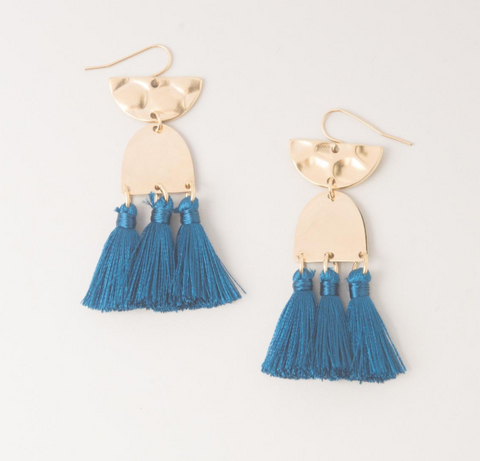 The Amelia Earrings in Ocean