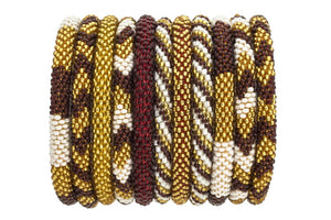 ROLL-ON® BRACELETS BURGUNDY & GOLD