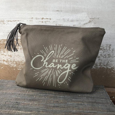 Be The Change Zipper Pouch