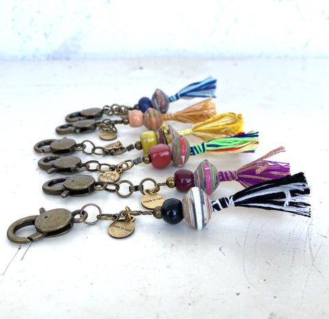 Cereal Box Bead Keychain