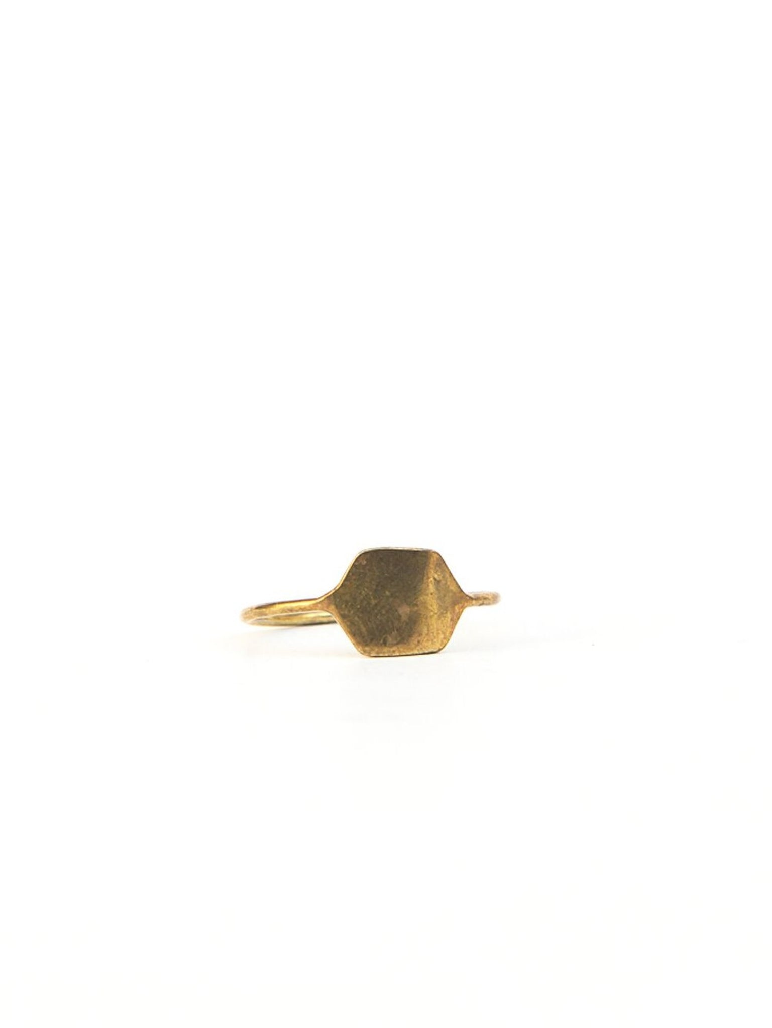 Golden Hexagon Ring