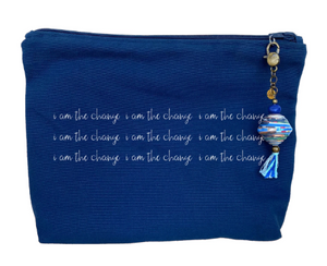 """I am the Change"" Canvas Zipper Pouch"