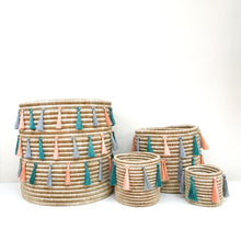 Sutton Woven Storage Basket and Joyful Tassel Set