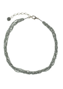 SHORT SWEET STRANDS NECKLACE DARK SILVER