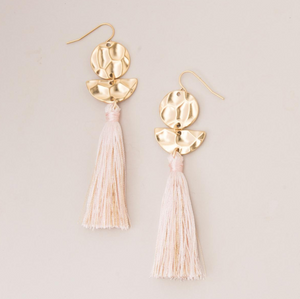 The Roenne Blush Tassel Earrings
