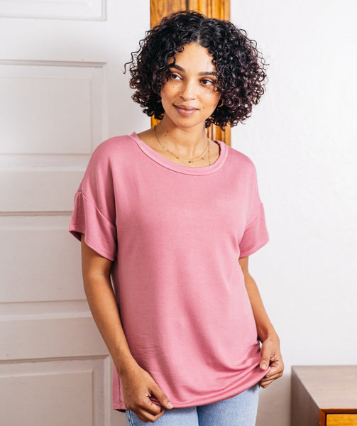 STROLL tee in Mauve Pink