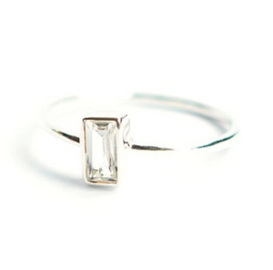PRISM STERLING RING - CRYSTAL
