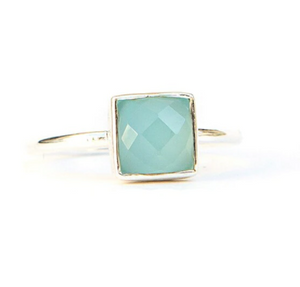 SULTRY SEA RING IN CHALCEDONY