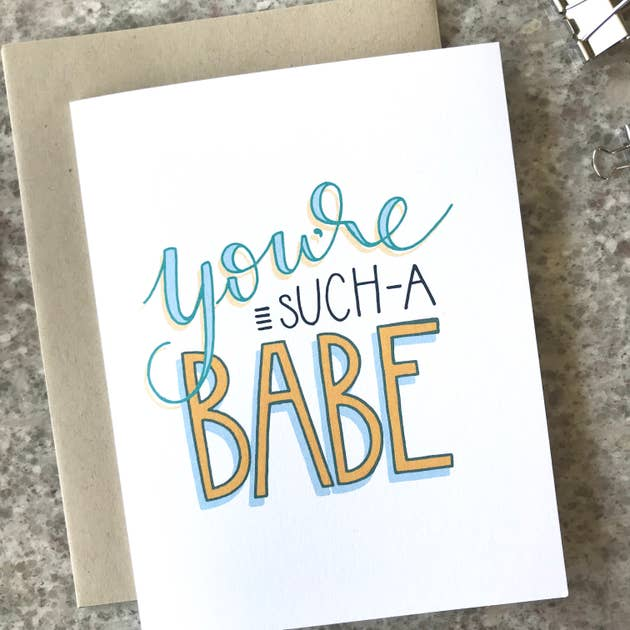 Such a Babe Greeting Card