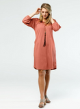The BETHANY dress in Etruscan Red