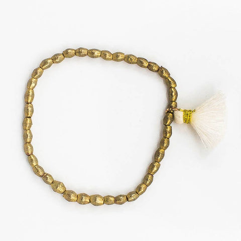 The Jetsetter Tassel Bracelet- Brass