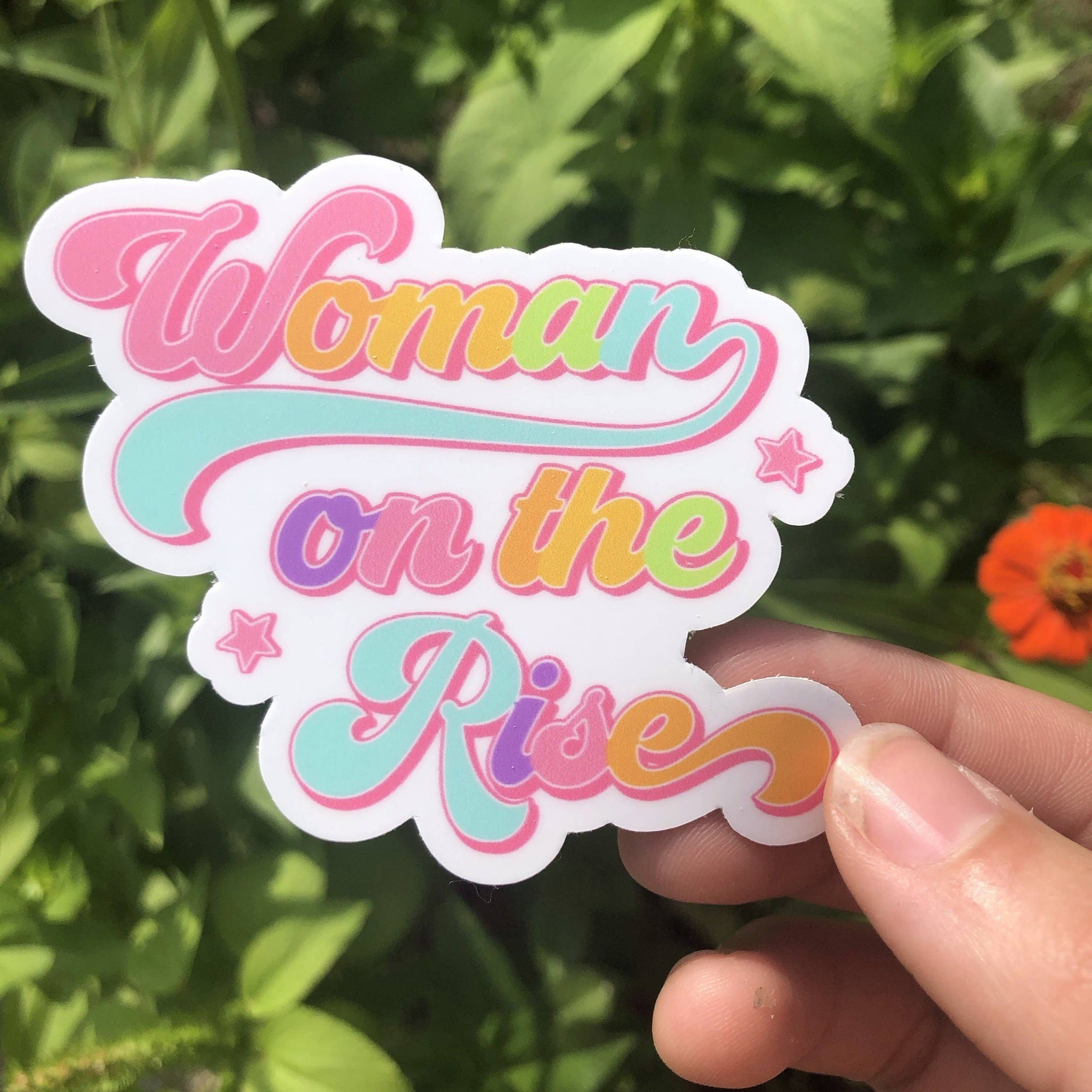 Woman On the Rise Sticker