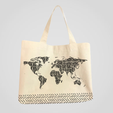 Tribal Traveler Canvas Tote Bag
