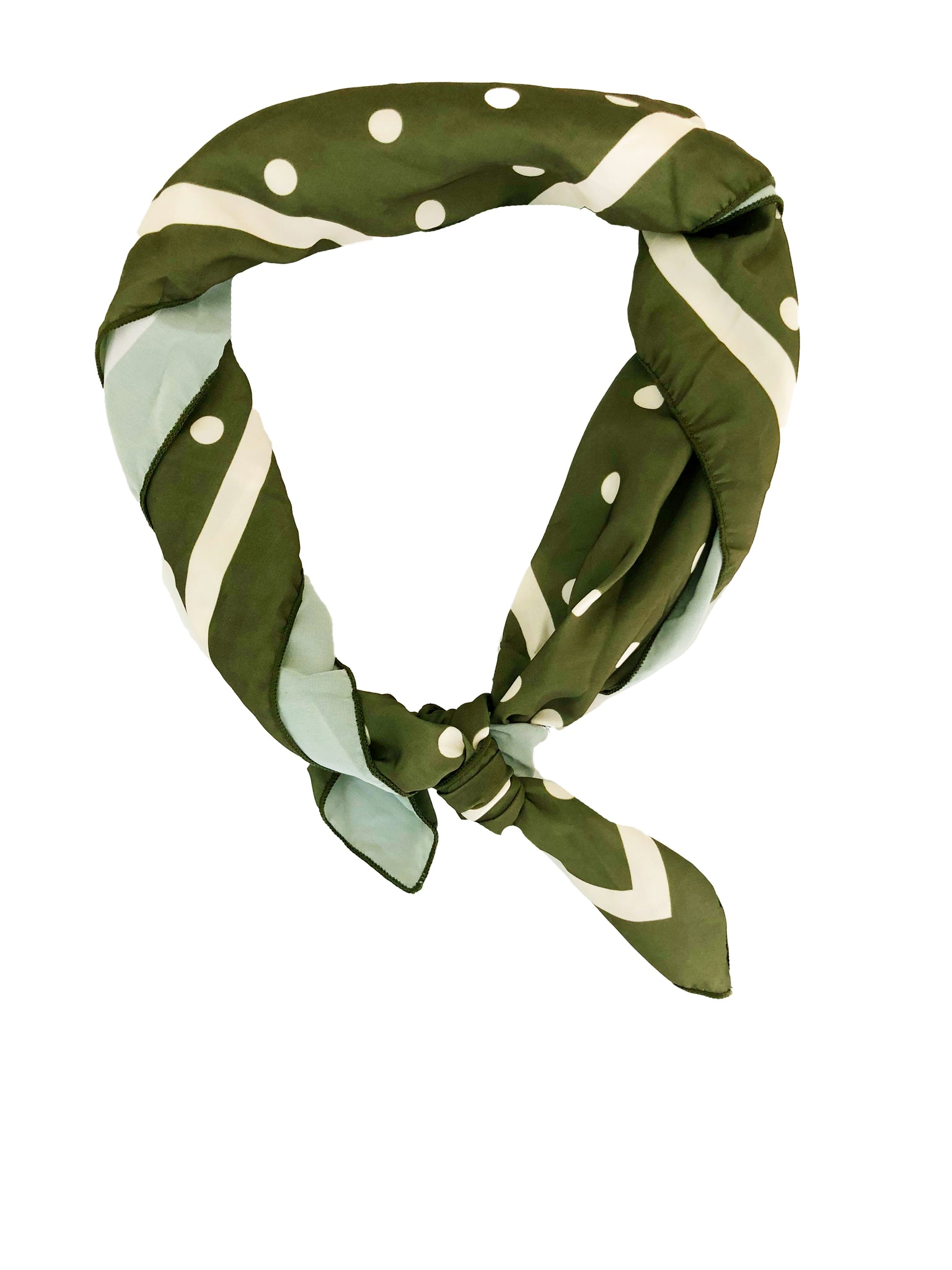 Headbands of Hope - Headscarf Spotty Dotty Olive