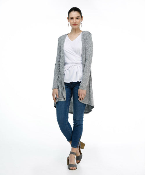 The ERIN duster in Heather Sweater