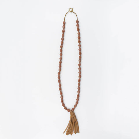 The Chai Tassel Necklace - Brown