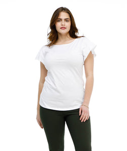 The MIRA tee in White