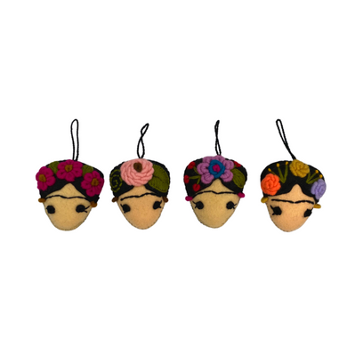 FRIDA KAHLO FELTED EMBROIDERED ORNAMENT - MEXICO