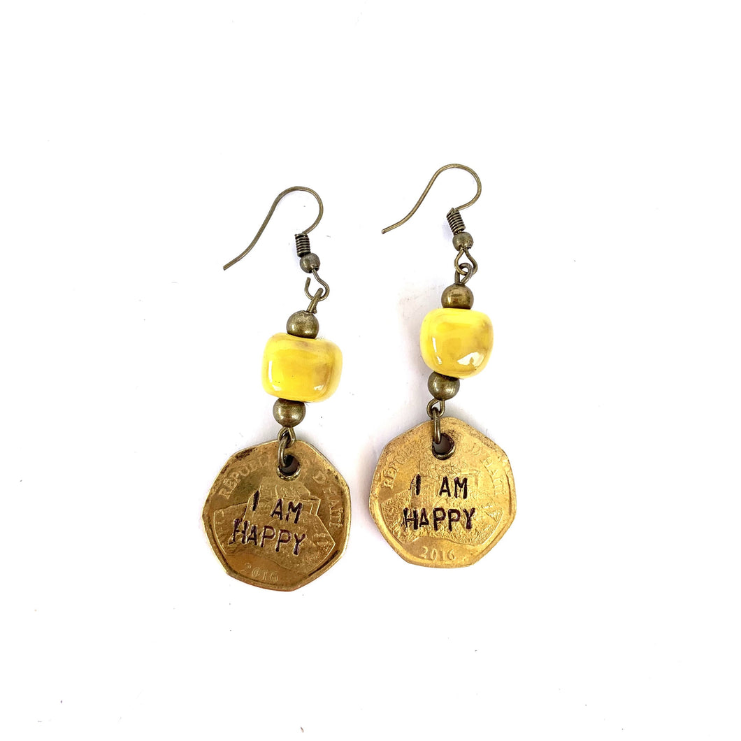 Inspirational Coin Earrings