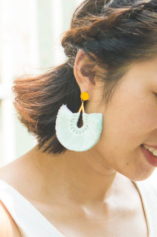 Mindy Mint; Tassel Earrings