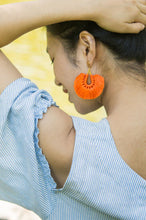 Mindy Tangerine; Tassel Earrings